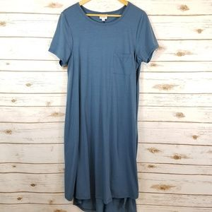 Lularoe | Carly blue gray Solid Color